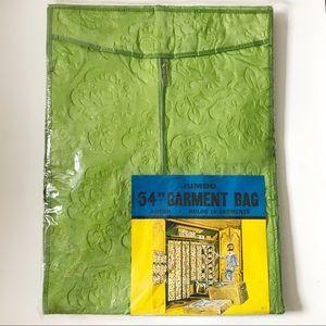 1960s Green Floral Jumbo Garment Bag